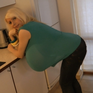 In The Kitchen With Massive Boobs Lady Beshine