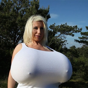 Busty Blonde Beshine And Mega Huge Tits