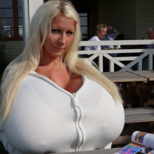 Giant Breasts Breakfast With Sexy Beshine